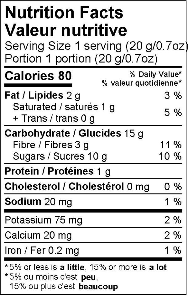 Miski dark chocolate covered pineapple chunks nutritional information