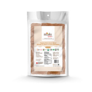 A bag of Miski Goodfoods Maca Cacao Blend